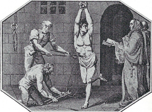 Just one example of how The Spanish Inquisition dealt with heretics.